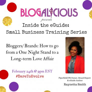 #DareToEvolve Blogalicious eGuide Series-Raynetta Smith