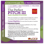Ready? Set? Submit! :: Wells Fargo + Blogalicious Perfect Pitch III Guidelines & More