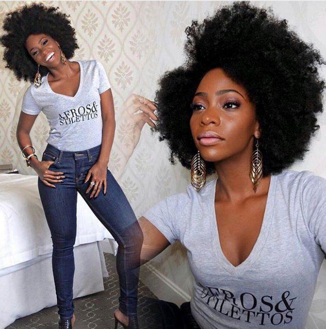 Teyonah Parris Dear Natualista Afros Stilettos tee