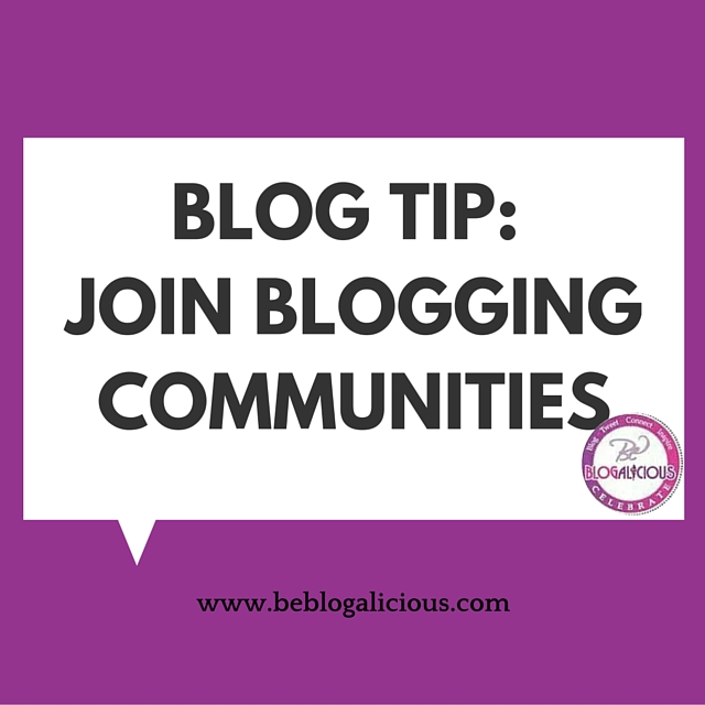Blog Tip- Join Blogging Communities