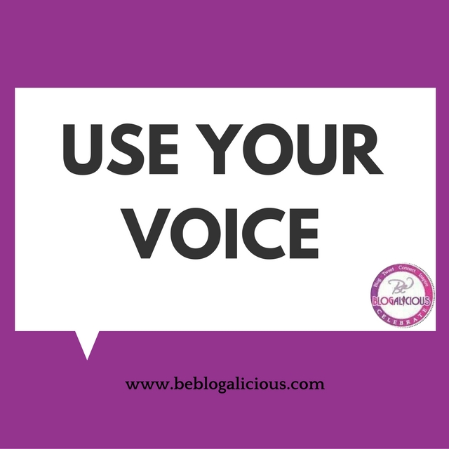 use your voice blog tip blogalicious