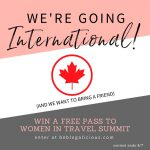 [GIVEAWAY!!] We're going international, baby! (And we want to bring a friend)